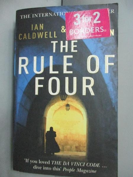 【書寶二手書T4/原文小說_IIP】The Rule of Four_Ian Caldwell