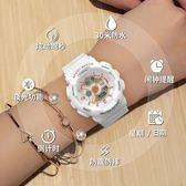 小錶盤手錶女款法國小眾學生女孩韓版簡約運動INS超火的電子錶潮CY 酷男精品館