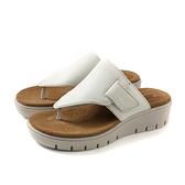 Clarks Unstructured 夾腳涼鞋 白色 厚底 女鞋 CLF40263SS19 no003