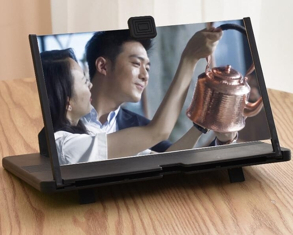 熒幕放大器 手機屏幕放大器抽拉式護眼懶人支架 3D高清視頻放大鏡【快速出貨八折搶購】