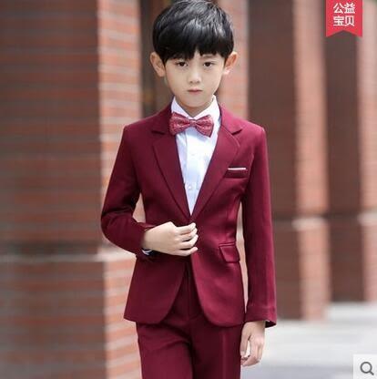 兒童西裝套裝春 童裝禮服男男童小西服寶寶西裝 花童禮服男演出服