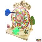 【收藏天地】童玩世界*飛鏢輪盤2合1遊戲機 ∕ 文創 送禮 玩具 組裝 拼圖 觀光