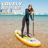 浪語 可愛號兒童滑水板沖浪板充氣槳板SUP趴板成人漿板 英雄聯盟igo