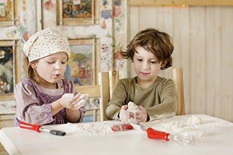 德國 ROSLE 兒童 烘培組 軟毛刷 矽膠鏟 糕點輪 打蛋器 支架座 (5入組) #12400 AM