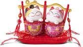【金石工坊】永結同心貓擺飾(高11CM)招財貓 結婚禮物 情人節禮物 開運擺飾 撲滿存錢筒