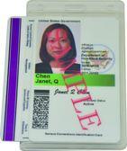 側入式 [雙卡] 識別證套 - 直款 (10入) HPBH-V2