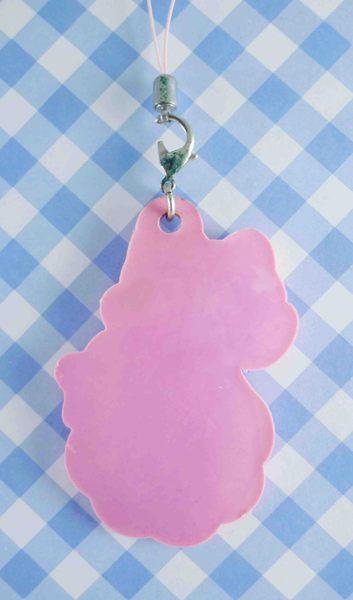 【震撼精品百貨】Hello Kitty 凱蒂貓~矽膠手機吊飾-LOGO粉