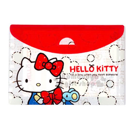 〔小禮堂〕Hello Kitty 信紙組合包《米紅.愛心.老鼠.蝴蝶結》便條紙.附收納包 4713791-96335