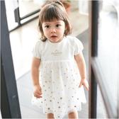 短袖套裝 上衣裙 附小褲褲 滿天星星網紗裙 洋裝 女寶寶 連衣裙 洋裙 Augelute Baby 60183