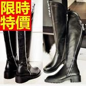 過膝馬靴-優雅修身皮革女長靴62l38[巴黎精品]