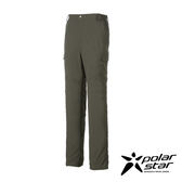 PolarStar 男 抗UV排汗多口袋長褲 西裝褲│休閒褲│吸濕排汗│直筒褲│大尺碼3L -P17315 『深灰綠』