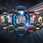 兒童手錶  -兒童手錶男孩電子錶男小學生運動手錶女童電子手錶防水夜光數字式 交換禮物