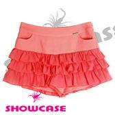 【SHOWCASE】俏麗雪紡層次荷葉褲裙(粉)