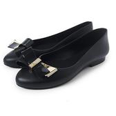 Petite Jolie 雅蝴蝶結果凍娃娃鞋-黑色