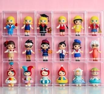 盲盒收納展示架泡泡瑪特展示盒molly手辦娃娃公仔防塵亞克力柜子 一木良品