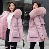 派克服女加絨韓版短款小個子冬季棉服女棉襖2020年新款大毛領外套 快速出貨