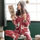 睡衣女士長袖春秋冬季純棉韓版大碼薄款可愛全棉家居服夏兩件套裝 黛尼時尚精品