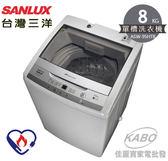 【佳麗寶】-留言加碼折扣(台灣三洋SANLUX)8公斤單槽洗衣機/ASW-95HTB