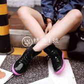 韓國時尚短筒學生系帶雨鞋加絨雨靴成人膠鞋防滑套鞋
