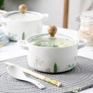 泡麵碗 陶瓷泡面碗帶蓋單個創意學生宿舍可愛方便面泡面杯碗家用飯盒湯碗【快速出貨】