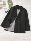 西裝外套秋冬小西裝外套女韓版寬鬆英倫風小個子2020網紅短款小西服上衣 交換禮物