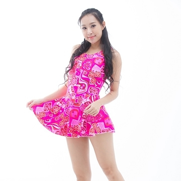 【南紡購物中心】【BICH LOAN】泡湯/SPA專用大尺碼連身裙泳裝13006616
