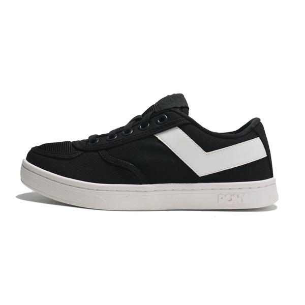 PONY 休閒鞋 SLAM DUNK 黑白 帆布 板鞋 女 (布魯克林) 91W1SL03BK