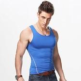 背心男健身運動彈力緊身修身型男士貼身無袖夏季跑步黑訓練速乾衣