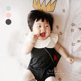 甜美娃娃領無袖三角包屁衣 爬爬服 連身裝 嬰兒服 兔裝 哈衣