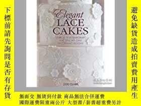 二手書博民逛書店Elegant罕見Lace Cakes: Over 25 con