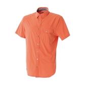 Wildland 荒野男彈性格子布短袖襯衫橘0A51208 84