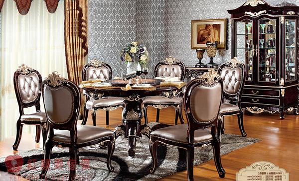 [紅蘋果傢俱] 832 新古典系列 大理石 圓餐桌 可訂製 可改色 數千坪實體 工廠直營