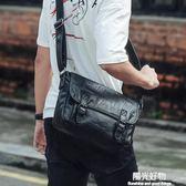 單肩斜背包新款包男休閒郵差包斜跨包時尚潮流男包小挎包 陽光好物