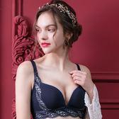 EASY SHOP-皇室美戀 無鋼圈B-E罩內衣(爵士藍)