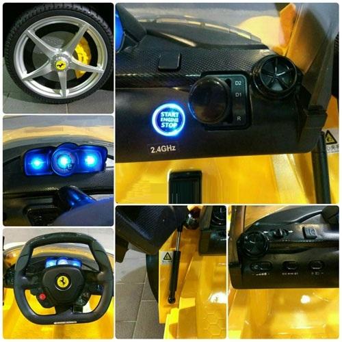 【原廠授權】【法拉利Ferrari 馬王】遙控電動車緩起步油壓上掀車門附搖控器雙驅雙馬達兒童超跑