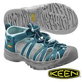 Keen Whisper 兒童輕量護趾水陸兩用鞋 深綠/湖水綠 1012310
