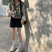 針織馬甲女外穿秋季寬鬆外搭毛衣背心外套【繁星小鎮】