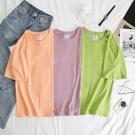 【Charm Beauty】糖果色 t恤短袖 女ins潮 夏季 韓版 寬鬆 短款 純色 百搭 學生 半袖 上衣 T桖