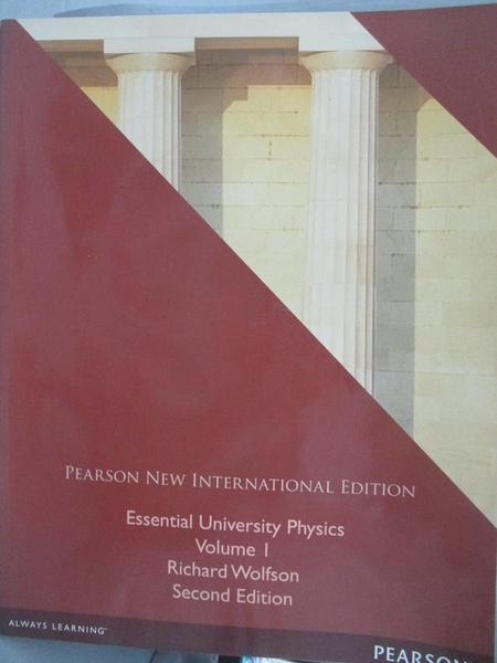 【書寶二手書T9/大學理工醫_ETC】Essential University Physics-Volume 1_wol