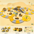 軌道車玩具拼裝小火車電動汽車工程車兒童益智路軌玩具男孩3-6歲5 小山好物