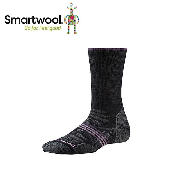 【美國 SmartWool 女Phd戶外輕量避震中長襪 《炭黑》】SW001311/保暖/戶外/運動襪