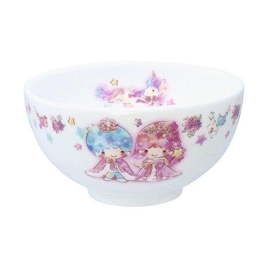 小禮堂 雙子星 日製 陶瓷碗 湯碗 飯碗 金正陶器 (粉白 45週年) 4964412-32030