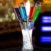 酒杯創意雞尾酒杯彩色玻璃香檳杯酒吧