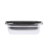 304不銹鋼密封保鮮盒1800ml-黑