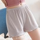 寬松安全褲女防走光可外穿夏天薄款透氣不卷邊打底褲三分短褲大碼 快速出貨