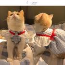 【八蛋】春夏季網紅ins 飛袖貓咪狗狗寵物衣服蕾絲連衣裙子薄可愛 智慧e家