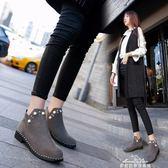 馬丁靴 單靴女新款英倫時尚低跟學生風短筒馬丁靴復古皮鞋女鞋子 早秋低價促銷
