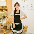 韓版蕾絲圍裙 韓式家居圍裙 工作圍裙咖啡店圍裙 廚房家居圍裙 草莓妞妞