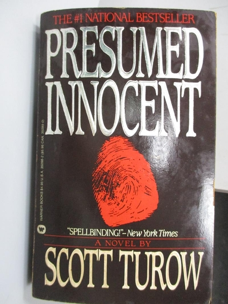 【書寶二手書T2/原文小說_CCK】Presumed Innocent_Scott Turow