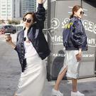 飛行夾克 韓版字母球 風衣 紐約周